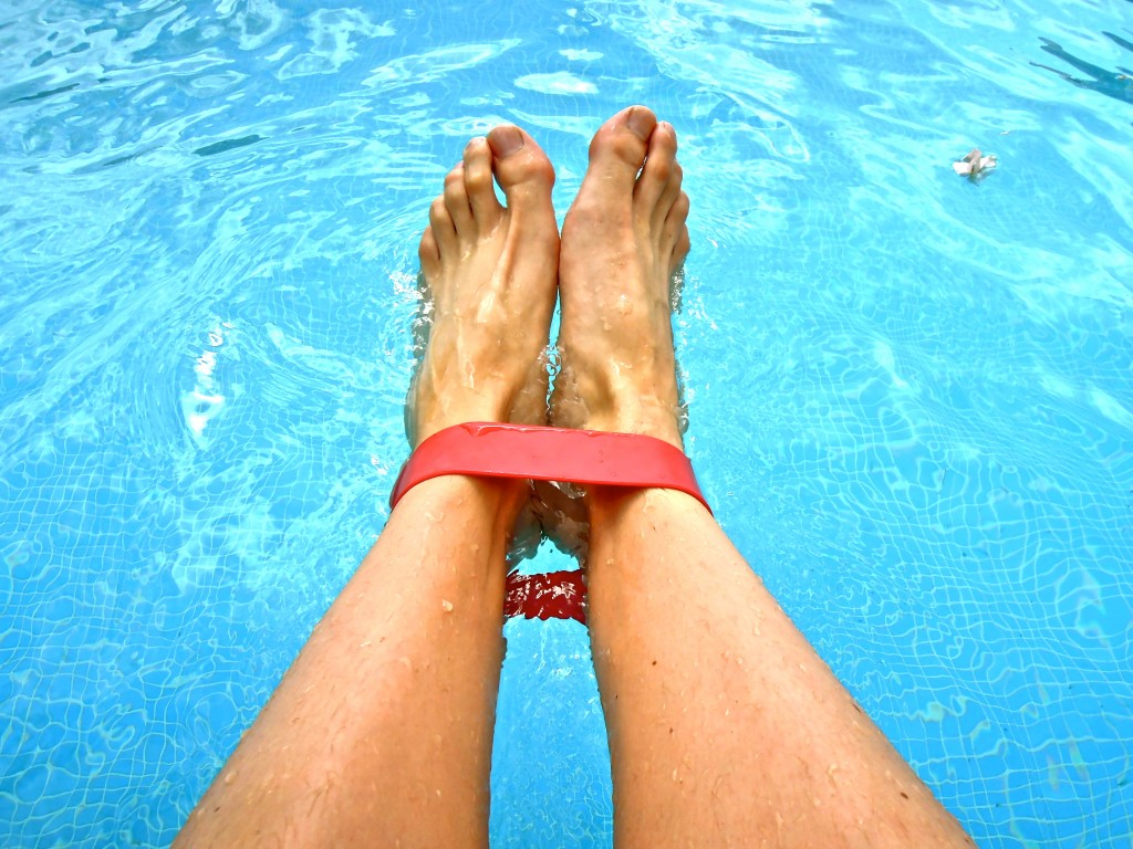Simning ankelband