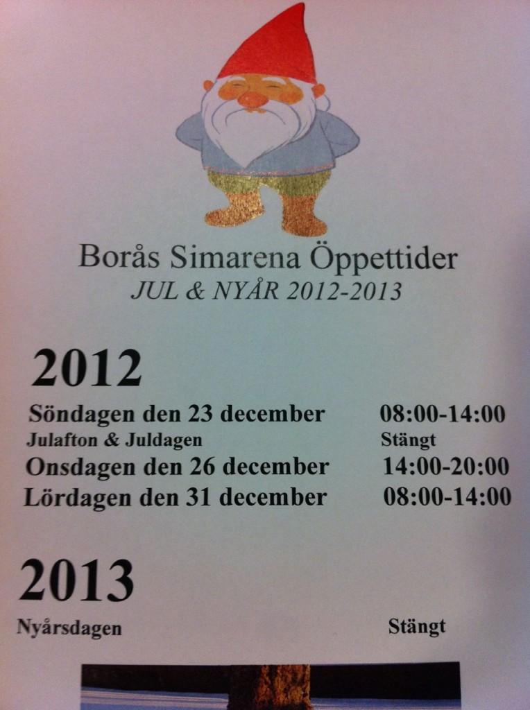 Borås Simarena Öppettider