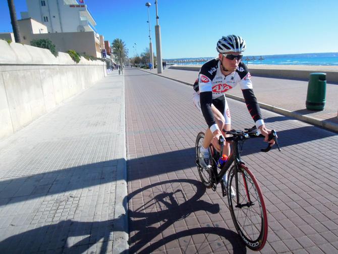 Cykling på PLaya de Palma, Mallorca