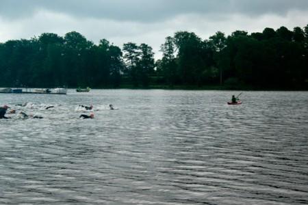 Sövde Triathlon 2013 - Inledande simning, sprinten