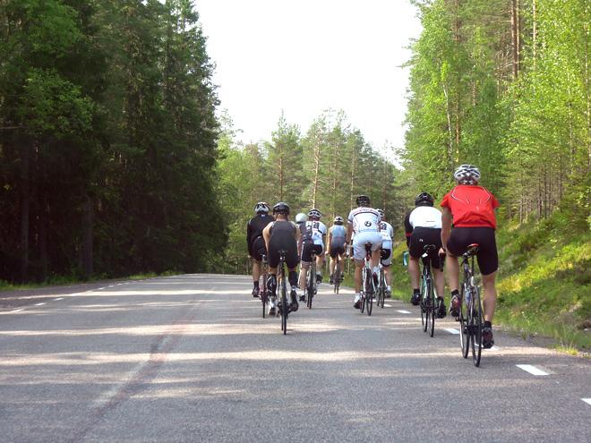 Triathlonläger i Stöten Sälen 2013 - Cykling