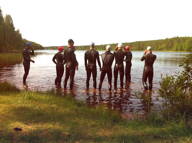 Triathlonläger i Stöten Sälen 2013 - Simning
