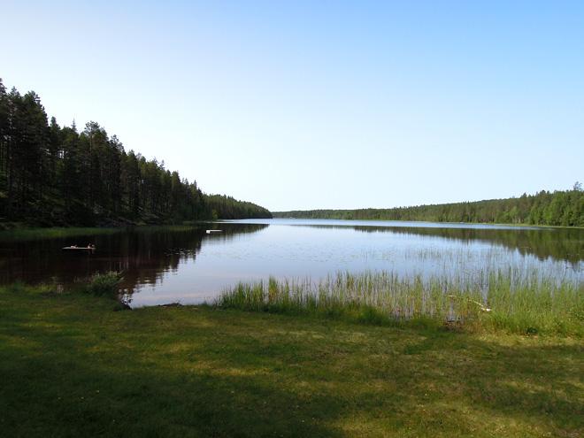 Triathlonläger i Stöten Sälen 2013 - Flersjön