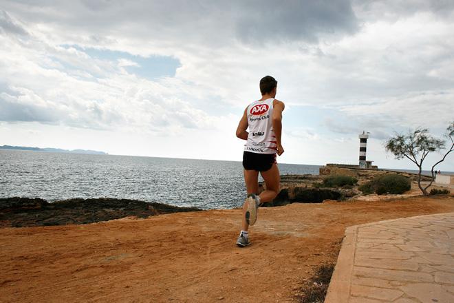 Andreas Lindén löppass Colonia Sant Jordi, Mallorca