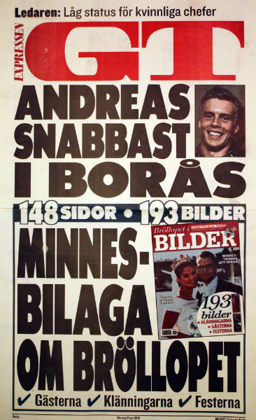 Andreas snabbast i Borås, löpsedeln Superklassikern