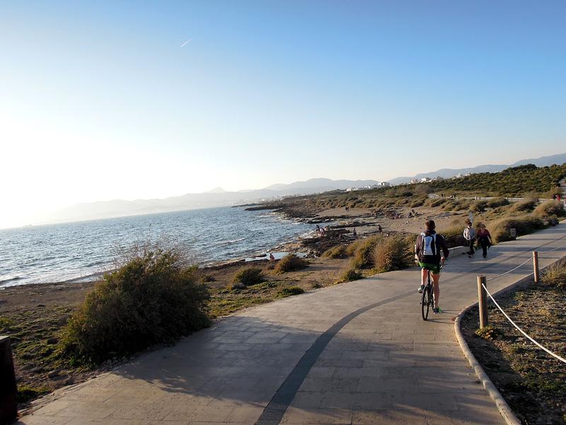 Andreas Lindén, cykelutflykt Mallorca, Playa de Palma
