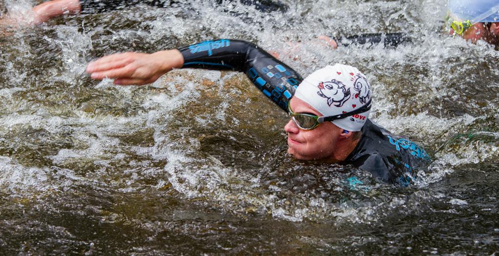 Borås Triathlon, simning Andreas Lindén