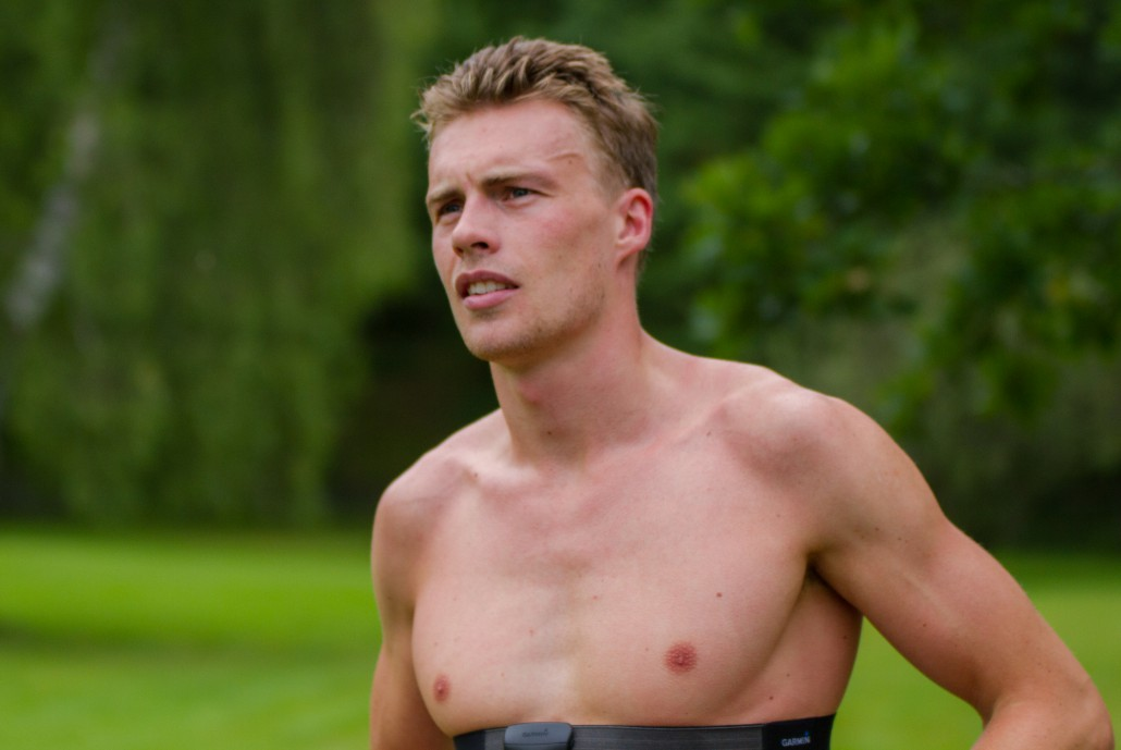 Andreas Lindén efter triathlonträning